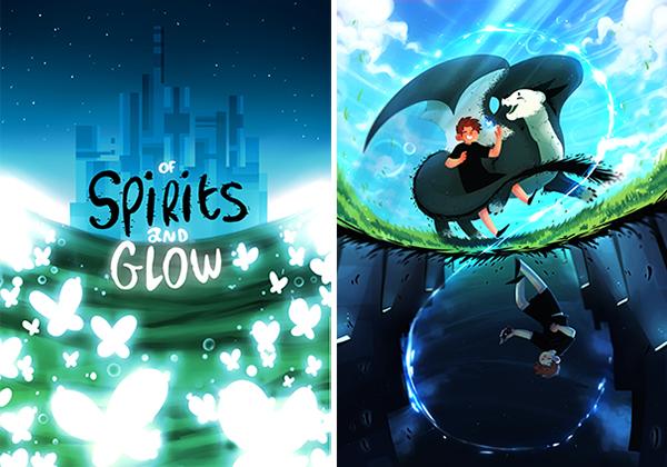 Edo, étudiant à e-artsup et créateur de la série Of Spirits & Glow