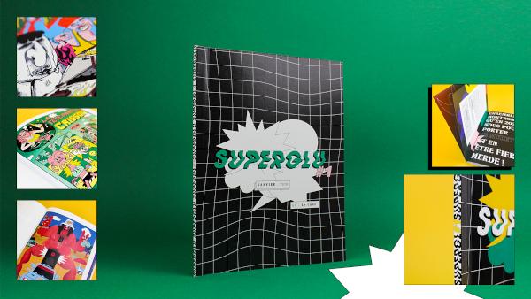 Supergluzine, le média créatif de Yoann Ospital et Camille Plunian (e-artsup promo 2020)