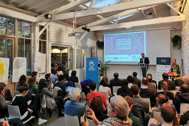 Hackathon Nuit de l'innovation solidaire x Handicap International / janvier 2020 © HI