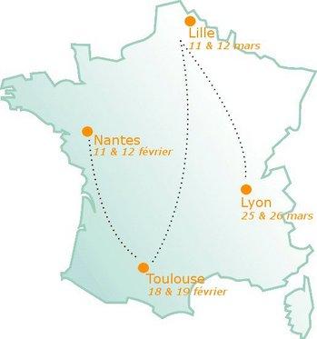 Ionis-STM voyage en France