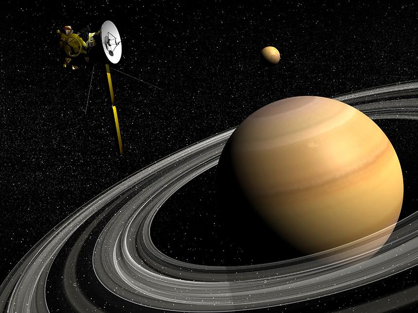 Grâce à l'enseignant-chercheur Vincent Robert de l'IPSA, on sait que Titan s'éloigne de Saturne 100 fois plus vite que prévu !