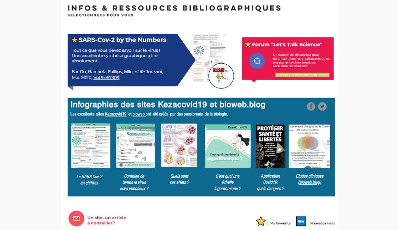 Sup'Biotech propose un site d'informations scientifiques sur le Covid-19